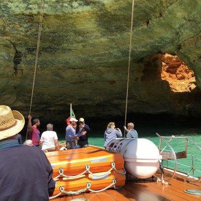 Portugal-Algarve- Felsformation Algar Seco-Gageiro-sailing